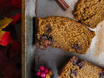chocolate caramel pumpkin bread