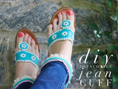 diy detachable jean cuff