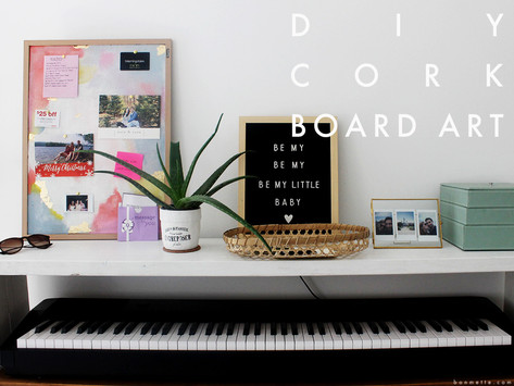 diy corkboard art