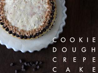 cookie dough crepe cake