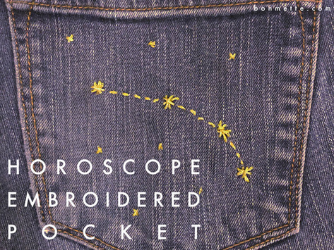 diy constellation embroidered pocket