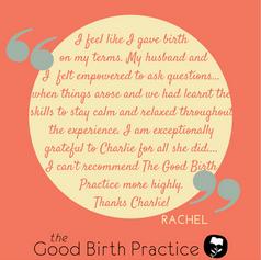 Rachel, first time Mum, hospital birth