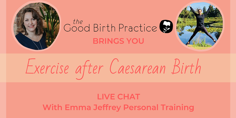 Exercise after Caesarean Birth with Emma Jeffrey Personal Trainer