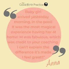 Anna - third baby, born at home