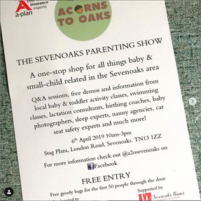 Saturday 6th April 2019 - Sevenoaks very first Parenting Show