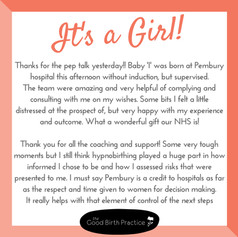 It's a Girl! New baby arrives at Pembury, born to an inspirational Mama, August 22nd 2018