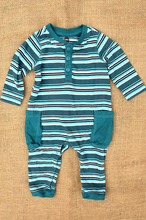 Tea Collection Romper - Teal- 3-6 Month