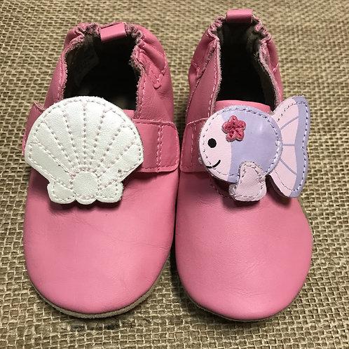 Robeez Booties - Pink - Size 6-12M Baby