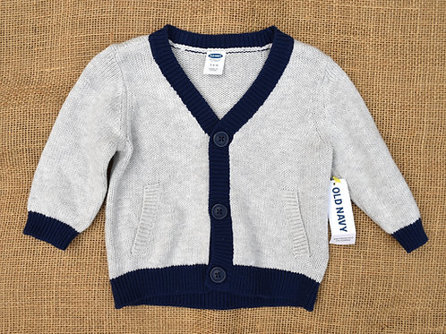 Old Navy Sweater - Gray- 3-6 Month
