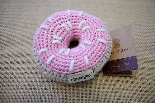 Cheengoo Donut Rattle- Pink
