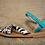 Thumbnail: Zara Girls Sandals - Black and White - Size 10