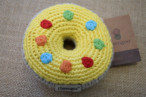 Cheengoo Donut Rattle-Yellow