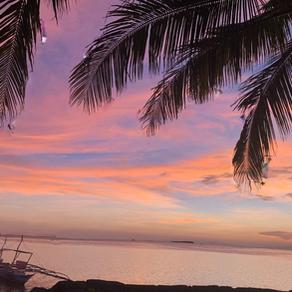 【カオハガン島の夕焼け】