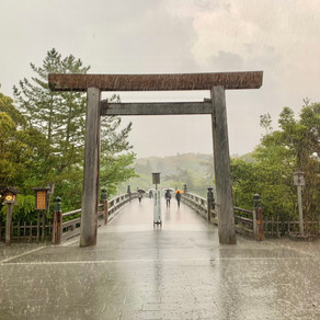 【 雷雨⚡️ の 伊勢神宮 参拝 ⛩】