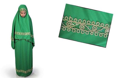 トルコ製女性用礼拝着 グリーン