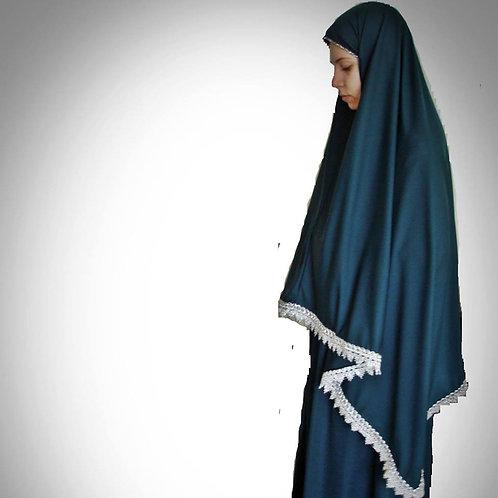 トルコ製女性用礼拝着 ブルー