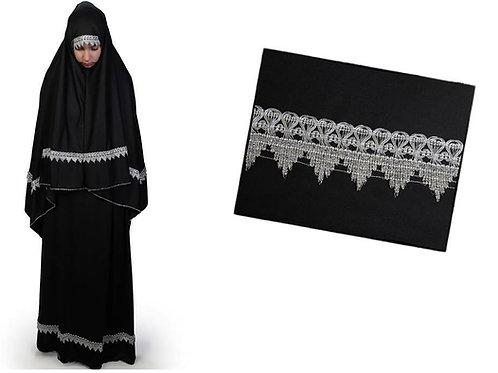 トルコ製女性用礼拝着 ブラック