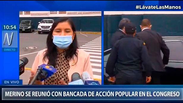 """Vocera alterna de Acción Popular: """"seguiré trabajando a favor de la corrupción"""""""