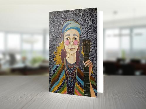 """Card """"Hippie"""""""
