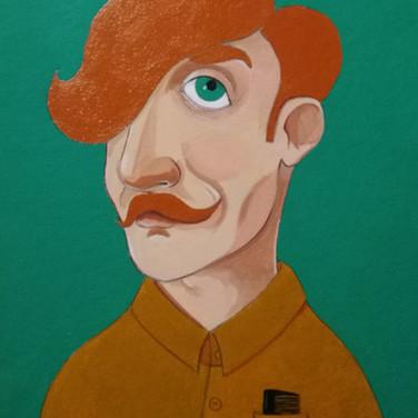 Ginger moustache