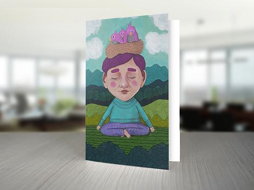 """Card """"Meditation"""""""