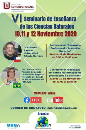 VI Seminario de Enseñanza de las Ciencias Naturales