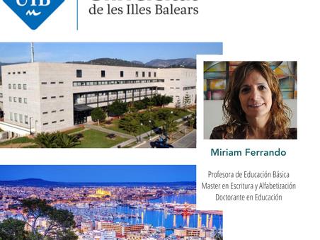 Profesora Miriam Ferrando realizará pasantía en la prestigiosa Universitat de les Illes Balears