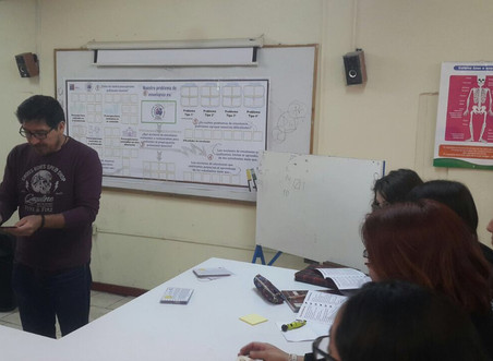 ESTRATEGIA RINDE con-CIENCIA socializada en el Colegio La Frontera de Cerro Navia