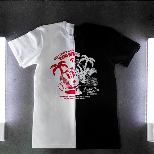 IOH x Toastface Grillah Tee WHITE & RED