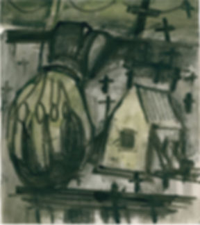 Christian Ulrich, 2015, Hand und Haus, Zeichnung