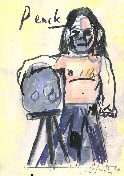 Christian Ulrich, Zeichnung, Penck