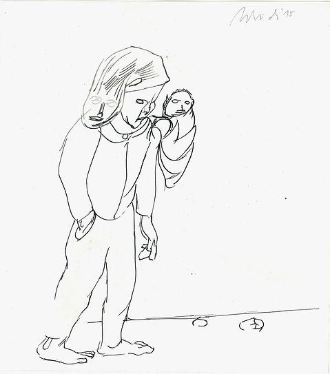 Christian Ulrich, 2015, Wanderer, Zeichnung