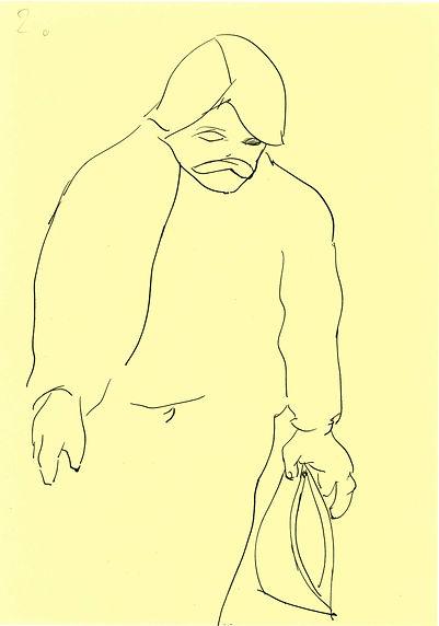 Christian Ulrich, Zeichnung, Der Grieche
