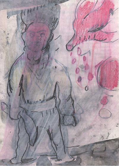 Christian Ulrich, 2018, Die Erleuchtung, Zeichnung