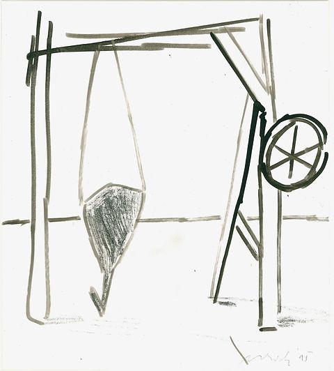 Christian Ulrich, 2015, Gestell, Zeichnung