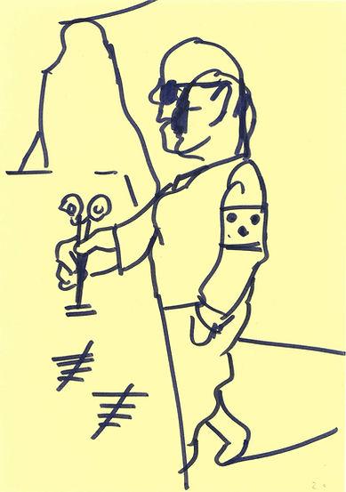 Christian Ulrich, Zeichnung, Tage zählen