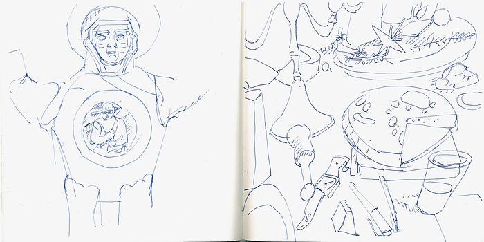 Christian Ulich, 2017, Zeichenbuch