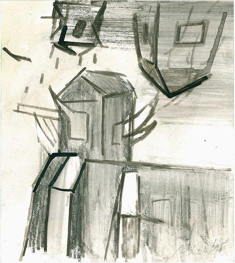 Christian Ulrich, 2015, Feuer, Zeichnung
