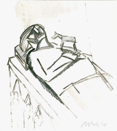Christian Ulrich, 2015, Das Bett, Zeichnung