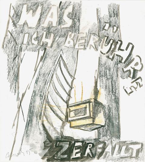 Christian Ulrich, 2015, Was ichberühre, Zeichnung