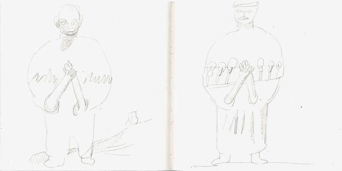 Christian Ulrich, 2018, Zeichenbuch