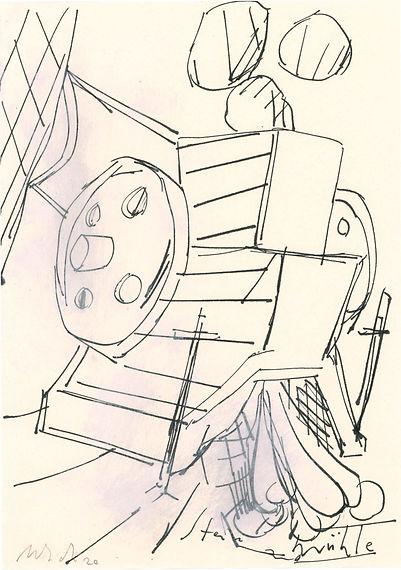 Christian Ulrich, Zeichnung, Steinmühle II