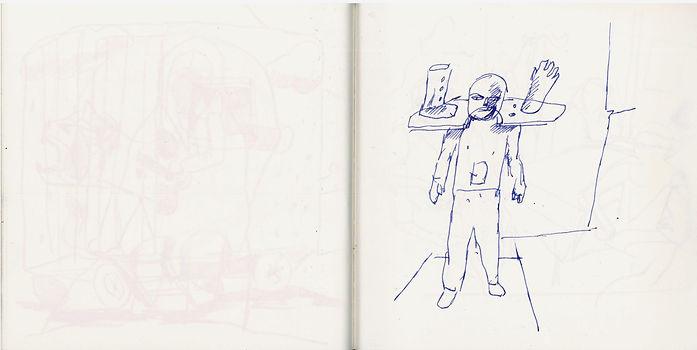 Christian Ulrich, 2019, Zeichenbuch