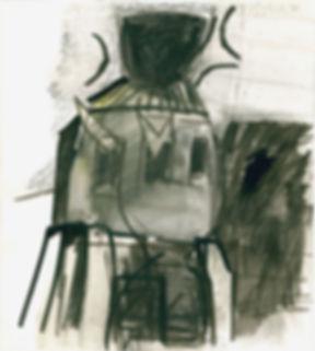 Christian Ulrich,Feuer II, Zeichnung