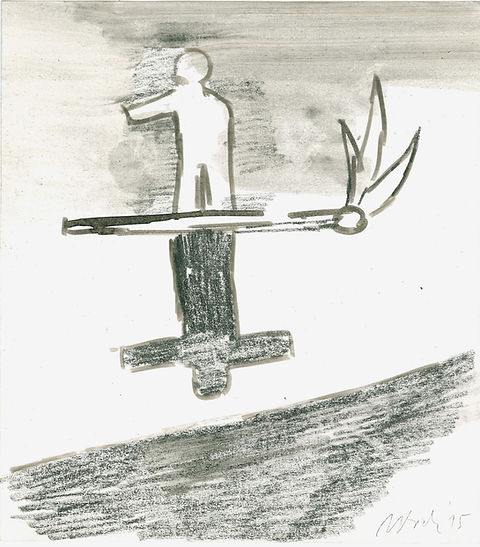 Chistian Ulrich, 2015, Feuer III, Zeichnung