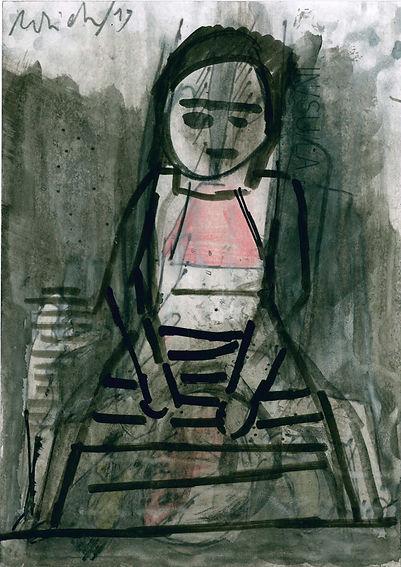 Christian Ulrich, Zeichnung, Mädchen