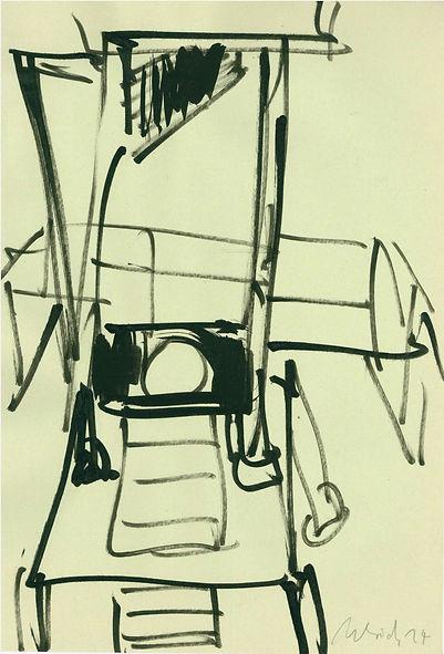 Christian Ulrich, Zeichnung, Guillotine