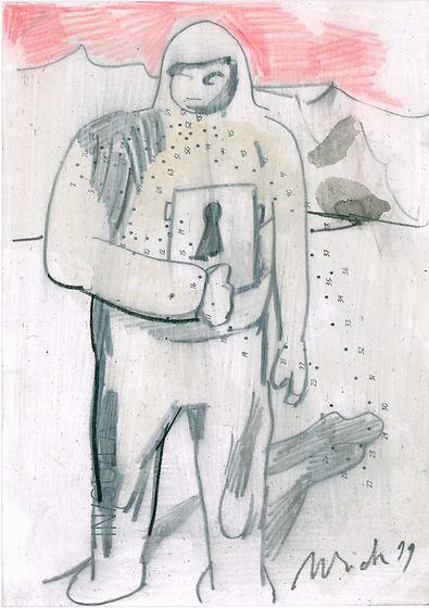 Christian Ulrich, Zeichnung, Die Zeichnung