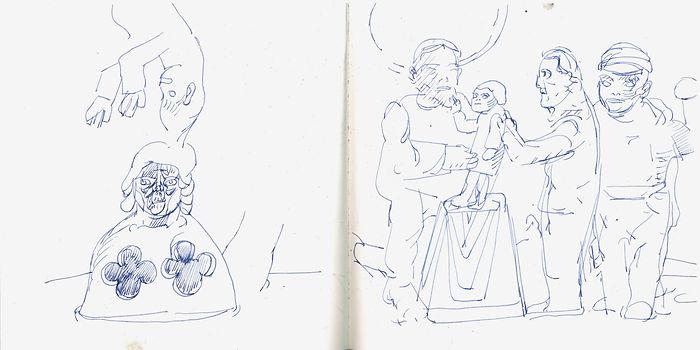 Christian Ulrich, 2017, Zeichenbuch
