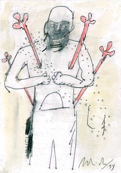 Christian Ulrich, Zeichnung, Sebastian